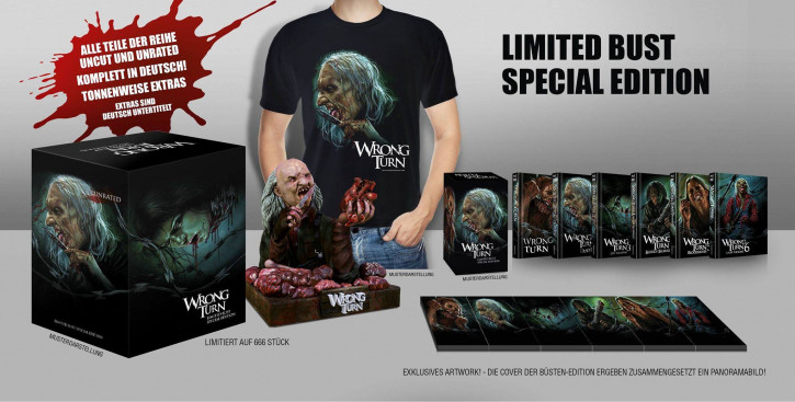 Wrong Turn 1-6 - Special Edition Büste [Blu-ray+DVD]