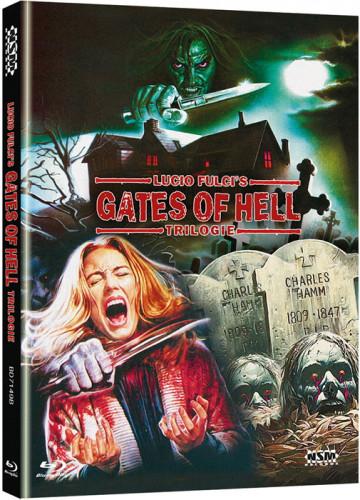 Lucio Fulcis - Gates of Hell - Trilogie - 3-Disc Mediabook - Cover B [Blu-ray]